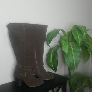 Torrid  suede knee high boots size 10W